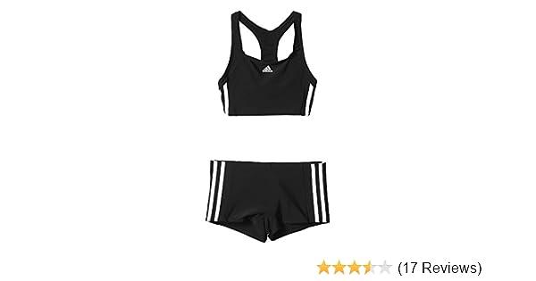 adidas Mädchen Essence Core 3 Stripes Bikini: Amazon.de: Sport ...