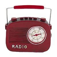 Euro Flora Kırmızı Nostaljik Radyo 13x4x14 Cm