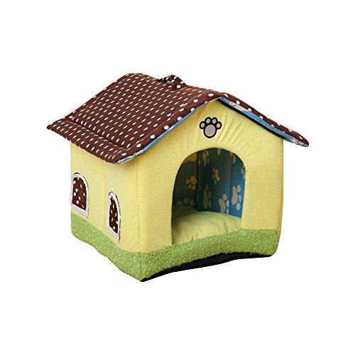 Aurantiaco Lovely Cama para Perro o Gato Lavable Mascota Nido Dulce casa Interior con cojín...
