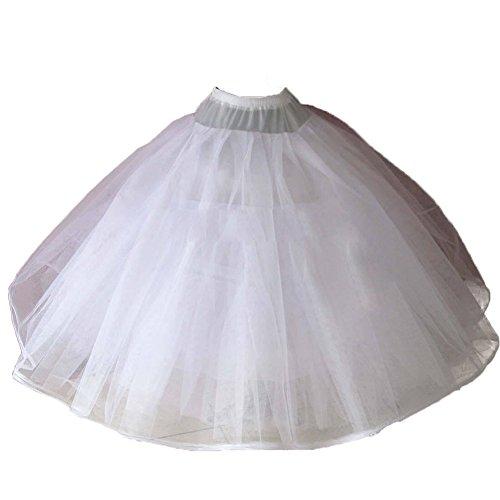 Sunzeus 8 Ebenen Weiche Tüll Petticoat No Hoops Crinolina Brautkleid Zubehör Prinzessin Ballkleid Quinceanera Kleid Unterwäsche (Brautkleider Zubehör)