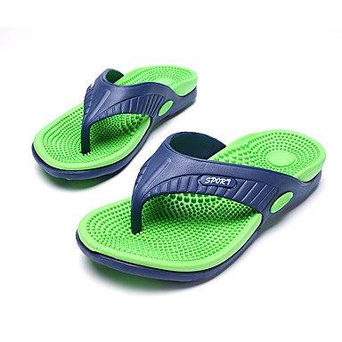 Slippers & amp da uomo;Pelle Estate Comfort Light Soles microfibra esterna del tallone piano casuale G sandali US10 / EU43 / UK9 / CN44