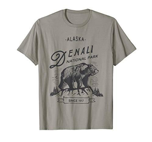 Vintage Denali National Park Shirt Retro Bear Alaska  T-Shirt - Alaska-kinder-t-shirt