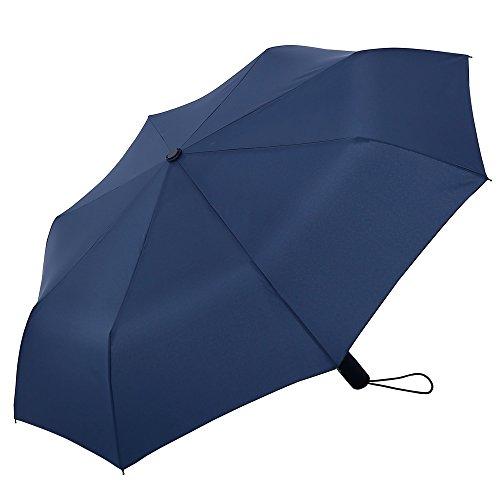 ESNBIA ombrello piegabile da viaggio resistente al vento, leggero con apertura/chiusura automatica, di colore azzurro adatto sia a uomo sia a donna