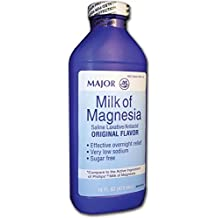 Major Milk of Magnesia Suspension, 400mg/5mL, 16oz by MAJOR