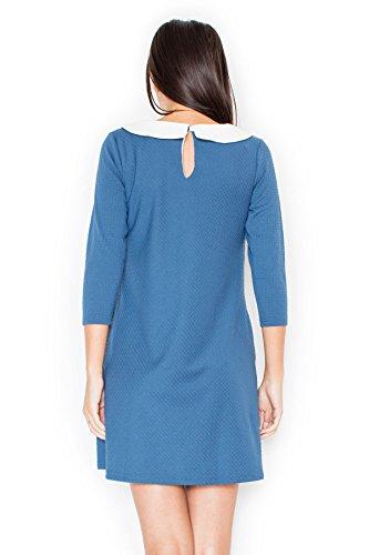 Robe Katrus avec fente dos en forme de goutte Bleu