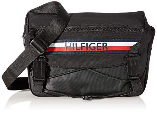 Tommy Hilfiger - Urban Mix Messenger, Shoppers y bolsos de hombro Hombre, Negro Black, 8.5x24x32 cm...