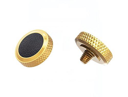 Ergonomischer Auslöser *Kupfer & Kunstleder* Auslöseknopf Soft Release Button für Fuji Fujifilm xt20 x 100f xt10 x-t2 x-pro2 x-pro1 X 100 X100s x100t x30 x 20 x10 x-e3 x-e2s (SRB-DGD Black)