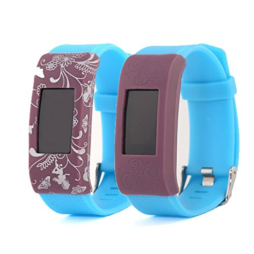 2-pcs-van-lucky-colorful-soft-slim-designer-sleeve-protector-band-cover-for-fitbit-charge2-band-cove