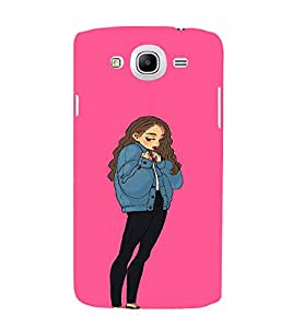 EPICCASE Shy Girl Mobile Back Case Cover For Samsung Galaxy Mega 5.8 I 9150 (Designer Case)