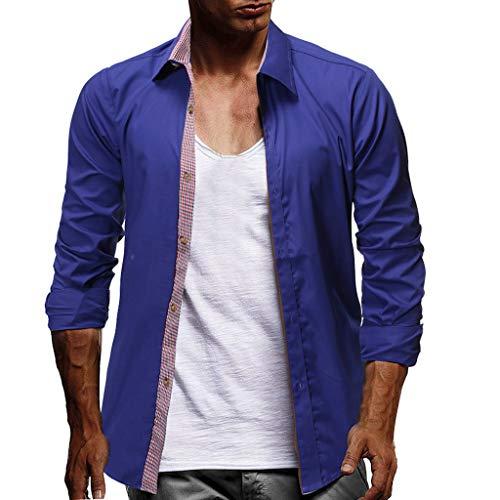 Zolimx Herren Lange Ärmel Kapuzenpulli Tops Jacke Taschen Mantel Reißverschluss Sweatshirt Kapuzenpullover Mode Herren Langarm Plaid Button Größe Casual Top Bluse Shirts