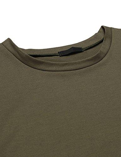 ... Zeela Herre Langarm Shirt Longsleeve Slim Fit Shirt Leicht Basic Shirt  Grün ...