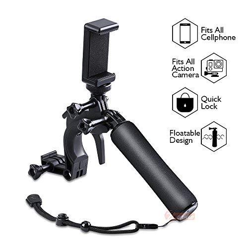 Zeadio Waterproof Pistol Shutter Trigger Floating Hand Grip for Gopro Hero 6 Black Gopro Hero 5 Hero 4 Hero 3+ Hero 3 Hero+LCD Yi Action Yi 4k Yi 4k+ Action Sjcam Cameras Etc.