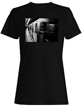 Metro tren subterráneo camiseta de las mujeres b343f