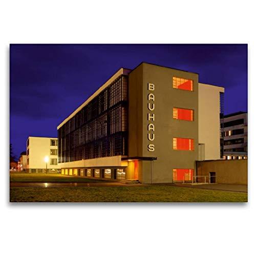 Calvendo Premium Textil-Leinwand 120 cm x 80 cm quer, Bauhaus   Wandbild, Bild auf Keilrahmen,...