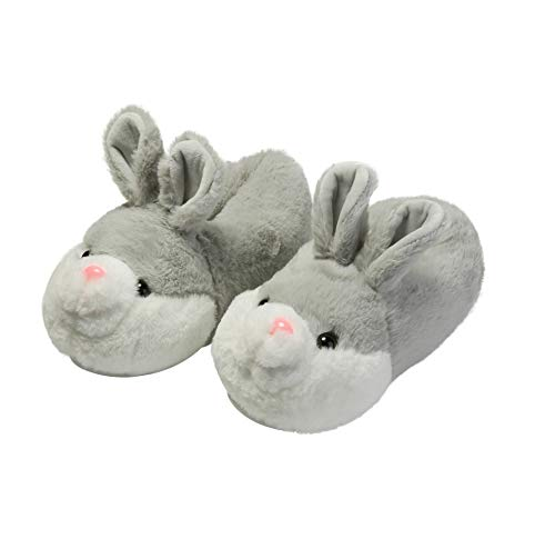 YGJT Plush Up Slippers Unisex Foot Warmers Cute Rabbit Design Warm Furry Slippers Winter Home Shoes Size Optional