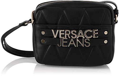 Versace Jeans Damen Ee1vsbbl4 Umhängetasche, Schwarz (Nero), 4x13x17 centimeters