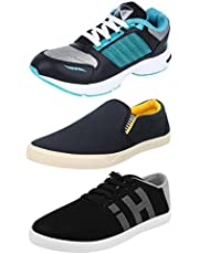 Chevit Men's Combo Pack of 3 Sneakers  Running Shoes