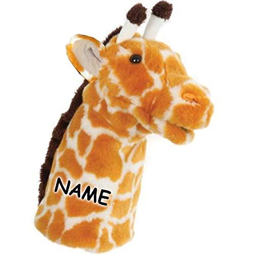 alles-meine.de GmbH 2 Stück _ Handpuppen - Giraffe / Okapi - inkl. Name - Plüsch - 29 cm - Handspielpuppen - Stoffpuppe - Zootier Zootiere / Tiere Afrika Wildtier - superweich - ..