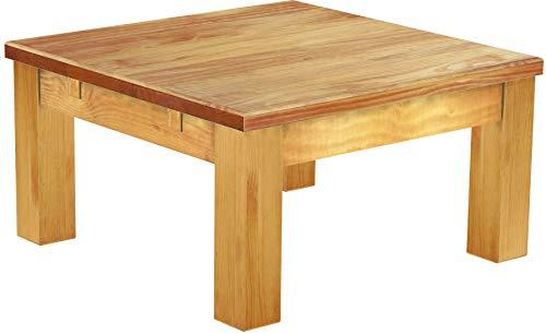 Brasilmöbel Couchtisch Rio Classico 73x73 cm Honig Wohnzimmertisch Holz Tisch Pinie Massivholz Stubentisch Beistelltisch Echtholz Größe und Farbe wählbar
