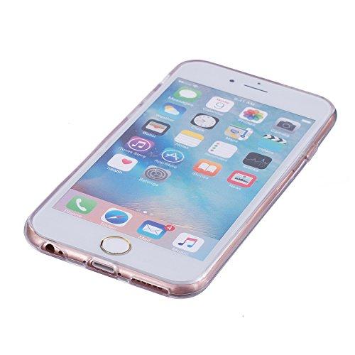 Für iPhone 6 Plus/6S Plus 5.5 Zoll [Scratch-Resistant] Weichem Handytasche Weich Flexibel Silikon Hülle,Für iPhone 6 Plus/6S Plus 5.5 Zoll TPU Hülle Back Cover Schutzhülle Silikon Crystal Kirstall Dur Weißes Pferd