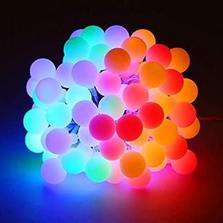 Zorara Cadena de Luces – Guirnalda Luces 10M 80 LED 8 Modos – Guirnalda Luces Pilas Decoración Interior, Jardines, Casas, Boda, Fiesta de Navidad [Clase de eficiencia energética A+++]