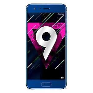 """Honor 9 Smartphone LTE, Display IPS 5.15"""" FHD (1920 x 1080), Kirin 960 Octa-Core, 64 GB, 4 GB RAM, Doppia Fotocamera 20MP/12MP, Batteria 3200 mAh, DualSIM, Blu"""