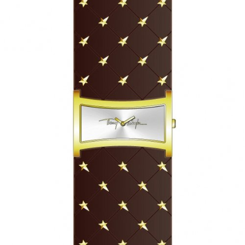 Thierry Mugler 4701501 - Reloj analógico de cuarzo para mujer con correa de piel, color negro