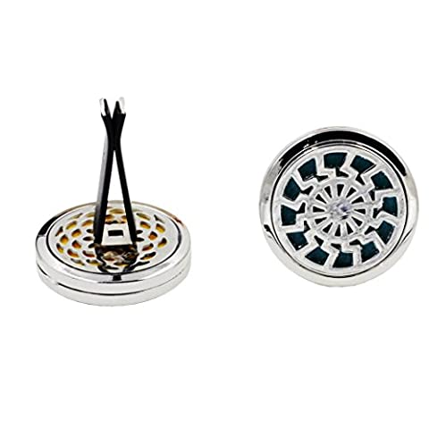 IGEMY 10 Style Stainless Car Air Vent Freshener Essential Oil Diffuser Locket (I)