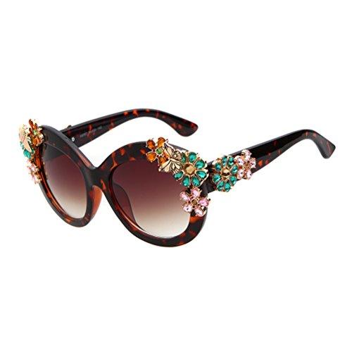 ADEWU - Lunette de soleil - Femme - Leopard&Pink