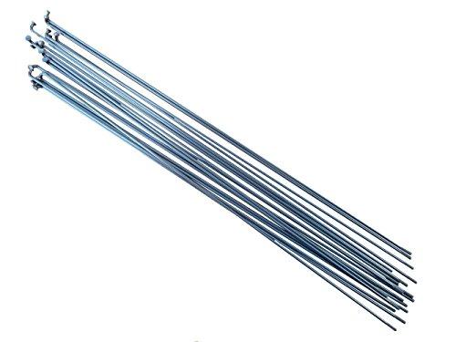 pilastro P1418PCS, lunghezza: 250mm-298mm, in acciaio INOX, argento bicicletta raggi, P14, Silver, 284mm