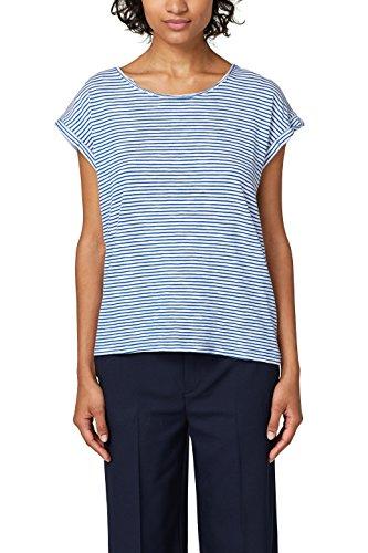 ESPRIT Damen T-Shirt 028EE1K074, Blau (Bright Blue 3 412), Medium de349a362a