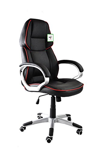 Mass GlobalTM Game Race Swivel Chair Adjustable Armrests Home Study Wheeled Executive Computer Office Desk Chair By Harvey Williams