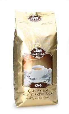 "Saquella Espresso ""Miscela ORO"" Slow Roasted Gourmet Italian Espresso Coffee Beans 1kg by Saquella 1856 SRL"