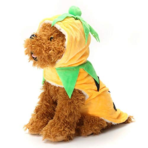 Ungfu Mall Halloween Calabaza Estilo Mascota Cachorro Perro Gato Ropa Sudadera con Capucha Disfraz Abrigo de Ropa, Large