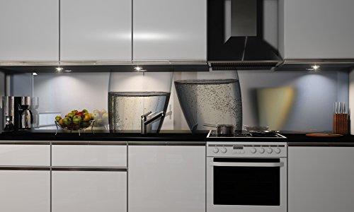 """Küchenrückwand Folie selbstklebend \""""Sekt\"""" Klebefolie Dekofolie Spritzschutz Küche verschiedene Größen"""