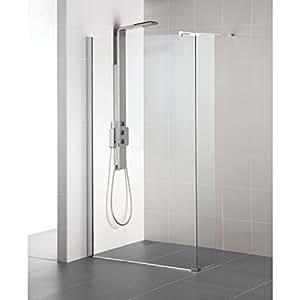Paroi de douche fixe CONNECT 90cm, ( Ajustement 854-877mm ), verre transparent Réf L6223EO