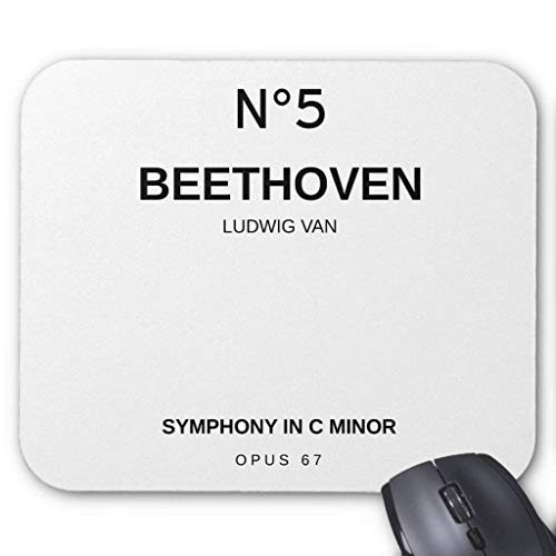 N°5 Symphony in C Minor by Ludwig Van Beethoven Mouse Pad 7.08X8.66 inches/18X22 cm