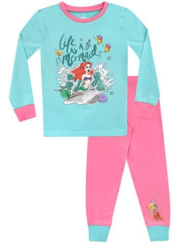 Disney Pijama para niñas La Sirenita Ajuste Ceñido