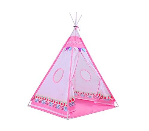 Tiendas de campaña infantil, carpa infantil plegable con diseño de tienda india, color rosa