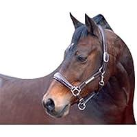 Caldene - Cabezada de cuero con brillantes para caballos