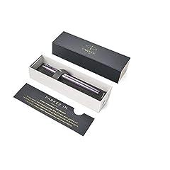Idea Regalo - Parker 1931639 IM Premium Penna Roller, Punta Fine e Ricarica di Inchiostro Nero, Dark Violet Chrome Trim