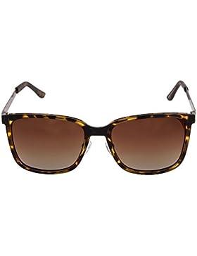 Gafas de Sol Polarizadas Ligeras Lentes de Gradiente Marco de Tortuga Carey Mujer Hombre