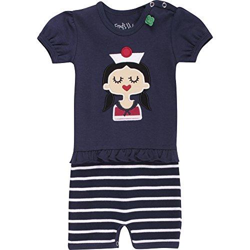 Fred's World by Green Cotton Baby-Mädchen Body Sailor Stripe Beach Girl Blau (Navy 019392001), (Sailor Anzüge Childrens)