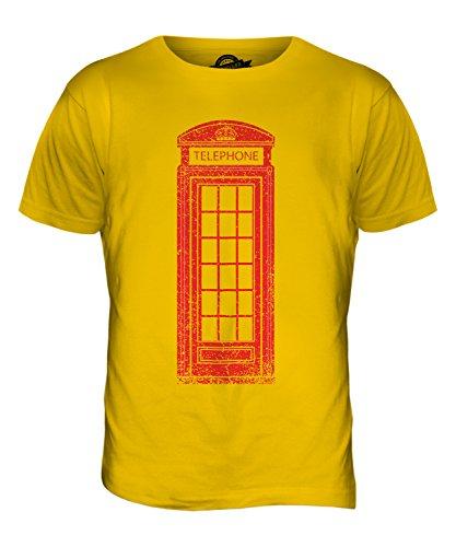 CandyMix Telefonzelle Herren T Shirt Dunkelgelb