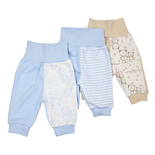 3er Set Baby Pumphose Jungen Babyhose Mädchen Schlupfhose 100% Baumwolle / Made in EU, Farbe: Junge, Größe: 68