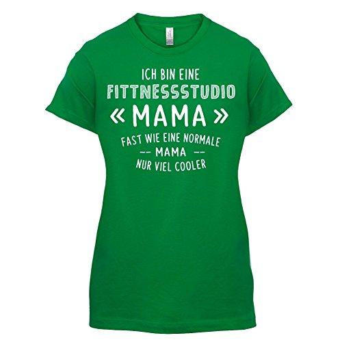 Ich bin eine Fitnessstudio Mama - Damen T-Shirt - 14 Farben Grün