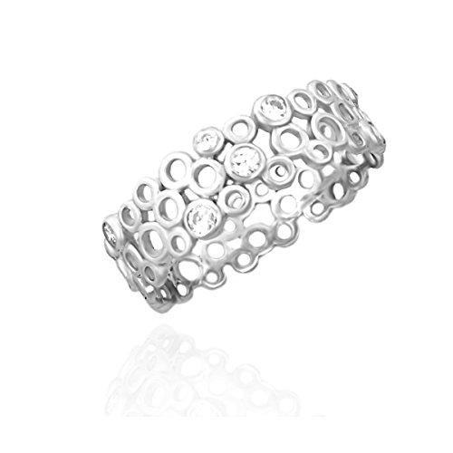 SOFIA MILANI Damen-Ring Ornament Kreise 925 Silber 10086 - (54 (17.2))