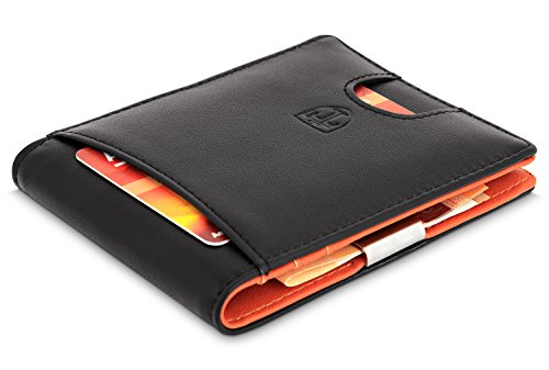 TRAVANDO Portefeuille Avec Pince à Billets SYDNEY Etui RFID - Porte cartes sécurisé protection rfid nfc