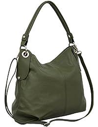 4575d635e5 AMBRA Moda Borsa da donna di vera pelle, borsa a spella GL012