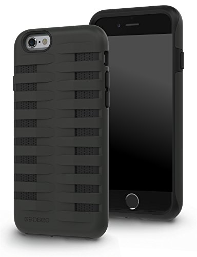 GADGEO iPhone 6 6S Case Tough Heavy Duty Shock Proof Defender Cover - Two Piece Protective Hard Case - Best iPhone 6 6S Strong Armour Hybrid Case Cover Includes Screen Protector Film